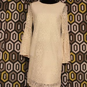 Emma & Michele Cream Lace Dress